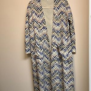 LuLaRoe Duster in a Chevron Design